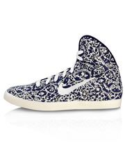 Imperial Purple Liberty Print Hyperclave High Top Trainers, Nike x Liberty