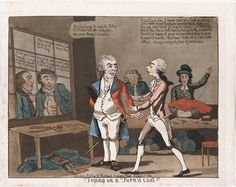 799.08.01.01+ Title: Trying on a turn'd coat!! Published: London : Pubd. by W. Holland, Oxford Street, August 1, 1799. Description: 1 print on wove paper : aquatint & etching, hand-colored ; plate mark 28.5 x 36.3 cm., on sheet 30 x 40 cm. Notes: Sheet trimmed to plate mark at bottom. Reference: Catalogue of prints and drawings in the British Museum. Division I, political and personal satires / Mary Dorothy George, v. 7, no. 9409  Lewis Walpole Library Digital Collection