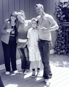 Young Chris Rene and family
