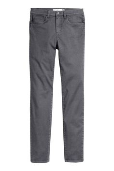 9753e2669cc Twill trousers Slim fit  5-pocket trousers in washed stretch cotton twill  with a