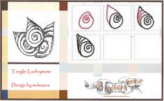 Lachrymose-Tangle Pattern by molossus, who says Life Imitates Doodles, via Flickr