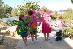 Fairy Wings Party Craft « kids party themes, birthday party ideas, party recipes, party games – The Speckled Freckle Party Place