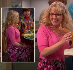 Bernadette's pink and black floral dress on The Big Bang Theory.  Outfit Details: http://wornontv.net/8988/ #TheBigBangTheory #CBS