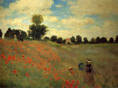 The Poppy Field near Argenteuil, 1873 by Claude Monet