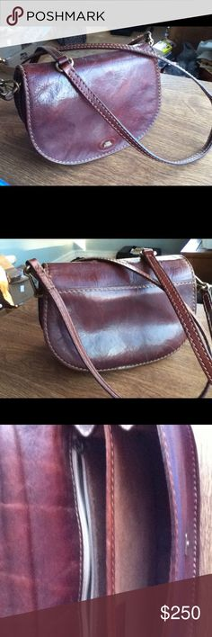 ce9952f929 The BRIDGE vintage brown leather shoulder bag The BRIDGE vintage authentic  Italian brown leather.