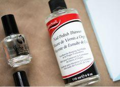 Use nail polish thinner to revive old bottles of nail polish.
