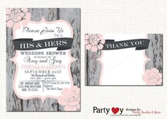 wedding shower invitation couples by