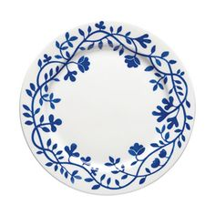 This beautiful small plate is part of Rörstrands porcelain series Pergola that was designed by Katarina Brieditis. The series comes with a beautiful, classic Scandinavian design with a pattern of intricate blue flowers. Pottery Painting, Ceramic Painting, Ceramic Plates, Decorative Plates, Painted Plates, Pottery Supplies, Small Pergola, White Pergola, Royal Design
