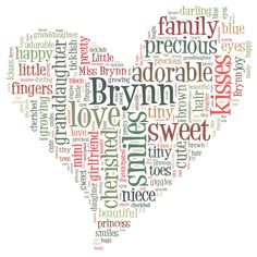 Brynn Word Heart Large