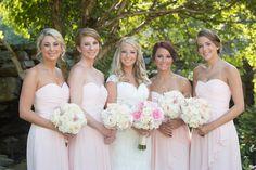 Ashley's Bridesmaids, #blushpinkbouquets, #blushpinkdresses, #lakelanierislands