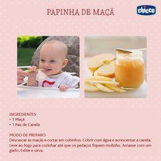 Os pediatras costumam sugerir que as frutas, em forma de suco e papinhas, sejam a primeira novidade na dieta do bebê que até então só tomava leite. Olha que prático essa receita de papinha! Seu bebê vai adorar!  *Siga sempre as recomendações do seu pediatra.