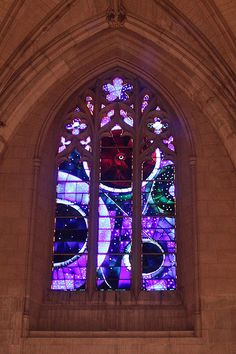 Moon rock stained glass window @ Washington National Cathedral