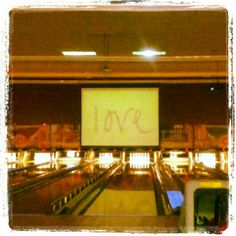 We went bowling and this randomly appeared...