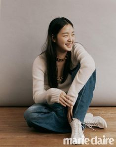 Tune in for Love - Marie Claire Photo shoot 4 - MyDramaList Korean Actresses, Asian Actors, Korean Actors, Actors & Actresses, Kdrama, Kim Go Eun Style, Korean Girl, Asian Girl, Tennis Fashion