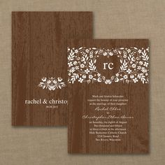 Off Elegant Wedding Invitations, Holiday Cards, Greeting Cards, Birth Announcements and Fine Stationery – All about saving you money without losing elegance or attitude. Discount Wedding Invitations, Elegant Wedding Invitations, Custom Invitations, Cream Wedding, Fall Wedding, Rustic Wedding, Wedding Ideas, Woodland Flowers, Flower Invitation