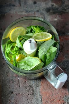 Lemon Basil Sauce - try it on fish or chicken, or as a salad dressing!