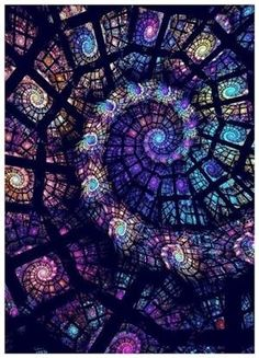 Purple Spiral Ceiling