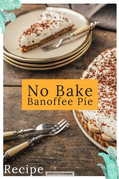 No bake Banoffee Pie - AvocadoBanane Banoffee Pie, Toffee, English Food, English Recipes, Tart Molds, Potato Peeler, Graham Crackers, My Coffee, Pie Recipes