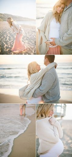 Beautiful maternity photos with gorgeous light.