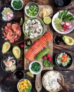 """796 likerklikk, 20 kommentarer – @aichabouhlou på Instagram: """"Monkfish ceviche, shrimps, salmon sashimi, sushi rice & all kinds of green deliciousness. The best…"""""""
