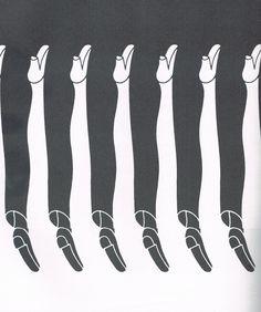 Figura-fondo: al estar bien distribuidos los colores nos permite observar piernas de hombre y piernas de mujer, confundiendo a nuestra visión sobre cual es el fondo y cual es la figura