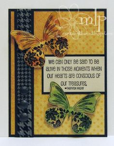Prickley Pear Rubber Stamps: Butterflies 2 Clearly Beautiful Stamp Set, Butterfly Die, Concious Treasures