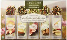 Tea Forte Garden Harvest White Single Steeps Organic White Tea Loose Leaf Tea Sampler, 15 Single Serve Pouches, Fresh Fruit and Herb Flavors  99 customer reviews Amazi\on link at: https://twitter.com/TheMarketer2015/status/614400834105921537/photo/1