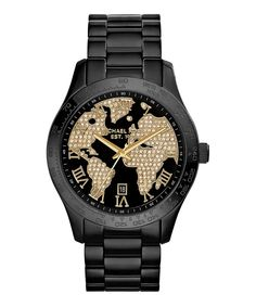 3191be77fe Look at this Michael Kors Black  amp  Goldtone Layton Bracelet Watch on   zulily today