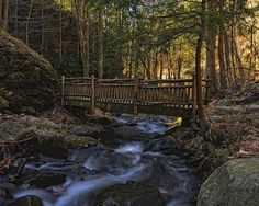 Old Wooden Bridge Over Pond Run Creek. Print By Dave Sandt