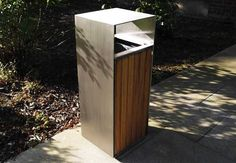 Blueton Limited - The new name in street furniture - Ref 046.01 Stainless Steel Litter Bins - www.bluetonltd.com