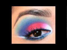 Makeup Tutorial: Red, White, & Blue Eyeshadow Look using My Beauty Mark Cosmetics