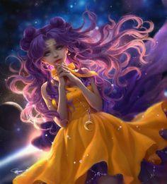 Chinese graphic artist creates stunningly beautiful Sailor Moon fan art
