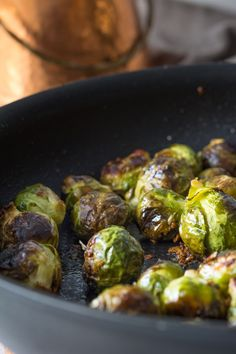 This quick recipe for easy garlic roasted brussels sprouts will make you fall in love with these nutty vegetables. If you ever hated brussel sprouts as a child... these are the ones that will change your mind!