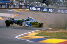 Michael Schumacher (GER) (Mild Seven Benetton Ford), Benetton B194 - Ford ECA Zetec-R 3.5 V8 (RET)  1994 Australian Grand Prix, Adelaide Street Circuit