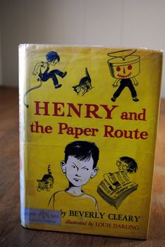 louis darling and beverly cleary | Henry and the Paper Route Beverly Cleary by BlackbirdAntiquesNC