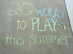 20 Fun Summer Activities for Kids (divided by age)