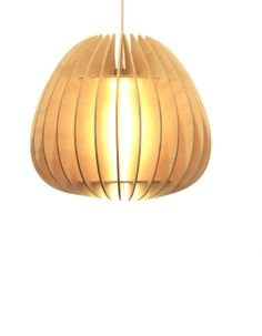 Wooden Pendant Light Ambient Light by MutatingCreatures on Etsy, $239.31