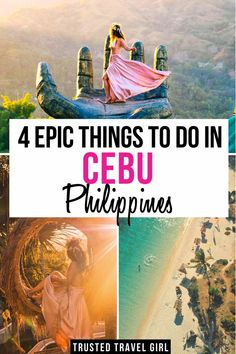 4 Epic Things to Do in Cebu, Philippines. Wondering what to do in Cebu Philippines? Sharing my favorite things to do in Cebu to help you plan your Cebu Itinerary . Beautiful Places To Visit, Cool Places To Visit, Philippines Travel Guide, Manila Philippines, Travel Guides, Travel Tips, Travel Photos, Asia Travel, Spain Travel