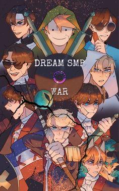 My Dream Team, Just Dream, Team Wallpaper, Minecraft Wallpaper, Dream Friends, Minecraft Fan Art, Fanart, Dream Art, Techno