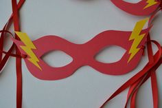 The Flash party masks for kids and adults Avengers Birthday, Superhero Birthday Party, 4th Birthday, Flash Superhero, The Flash Season, Mascara, Mask Party, Super Hero Costumes, Holidays And Events
