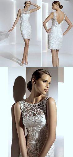 Pronovias - Glass Crochet Wedding Dresses, Civil Wedding Dresses, Wedding Gowns, Prom Dresses, Formal Dresses, Elopement Dress, Older Bride, Space Fashion, Courthouse Wedding
