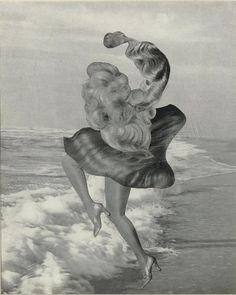 Sans tenir compte des prévisions, 1947  collage by Georges Hugnet