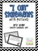"""I Can"" Statements Common Core, 1st grade, ELA"