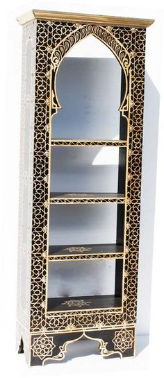 Moroccan bookshelf. I'm going to use the concept of the front of this to create window surrounds.