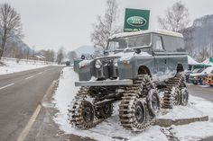 Land Rover Cuthbertson, Seitenansicht, cool vehicle, Winter, vinter, bæltekøretøj, nice wheels, prepared for snow :-)