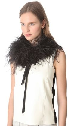Maison Martin Margiela Feather Neck Tie - Maybe be a little cray??