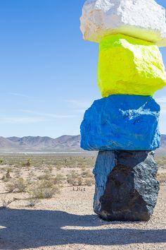www.pencilshavingsstudio.com - 7 magic mountains - las vegas - nevada desert - travel - colorful installation art
