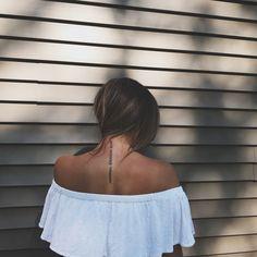 Women's spine tattoo- dainty, word tattoos, women's tattoo idea