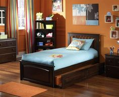 Brooklyn Solid Wood Raised Panel Foot Board Beds w/Trundle