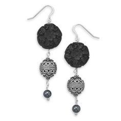 Love the detail in these!  Great prices on sterling silver